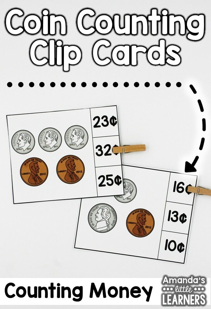 Coin Count And Clip  Formal Assessment Counting Coins And