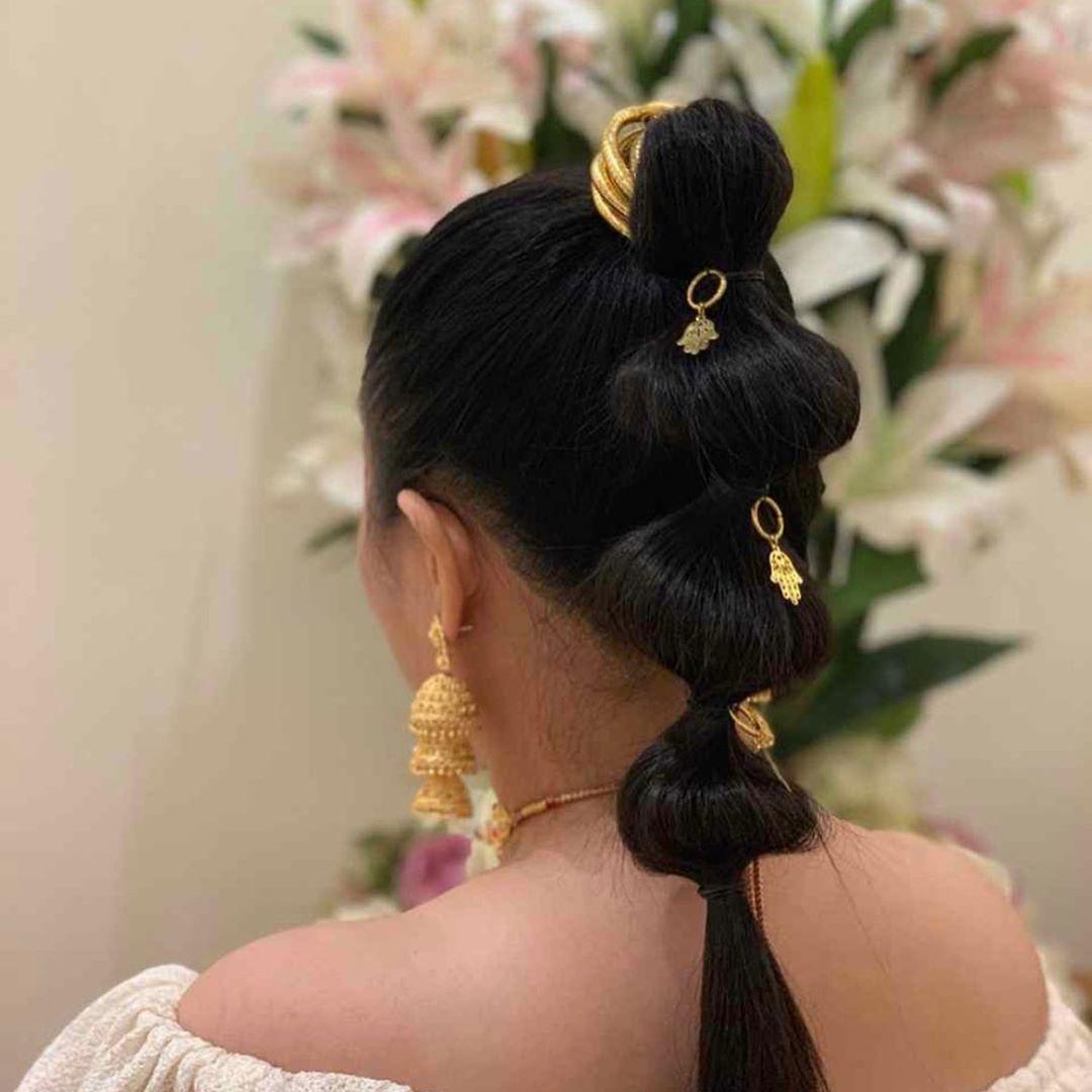 Ramadan Hairstyles By Thegardennail Spa Drop Earrings Hair Styles Earrings