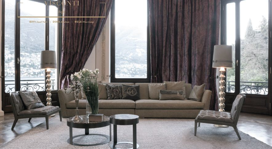 Frigerio Mobili ~ Visconti sofa and dona armchair by vittoria frigerio lux extra