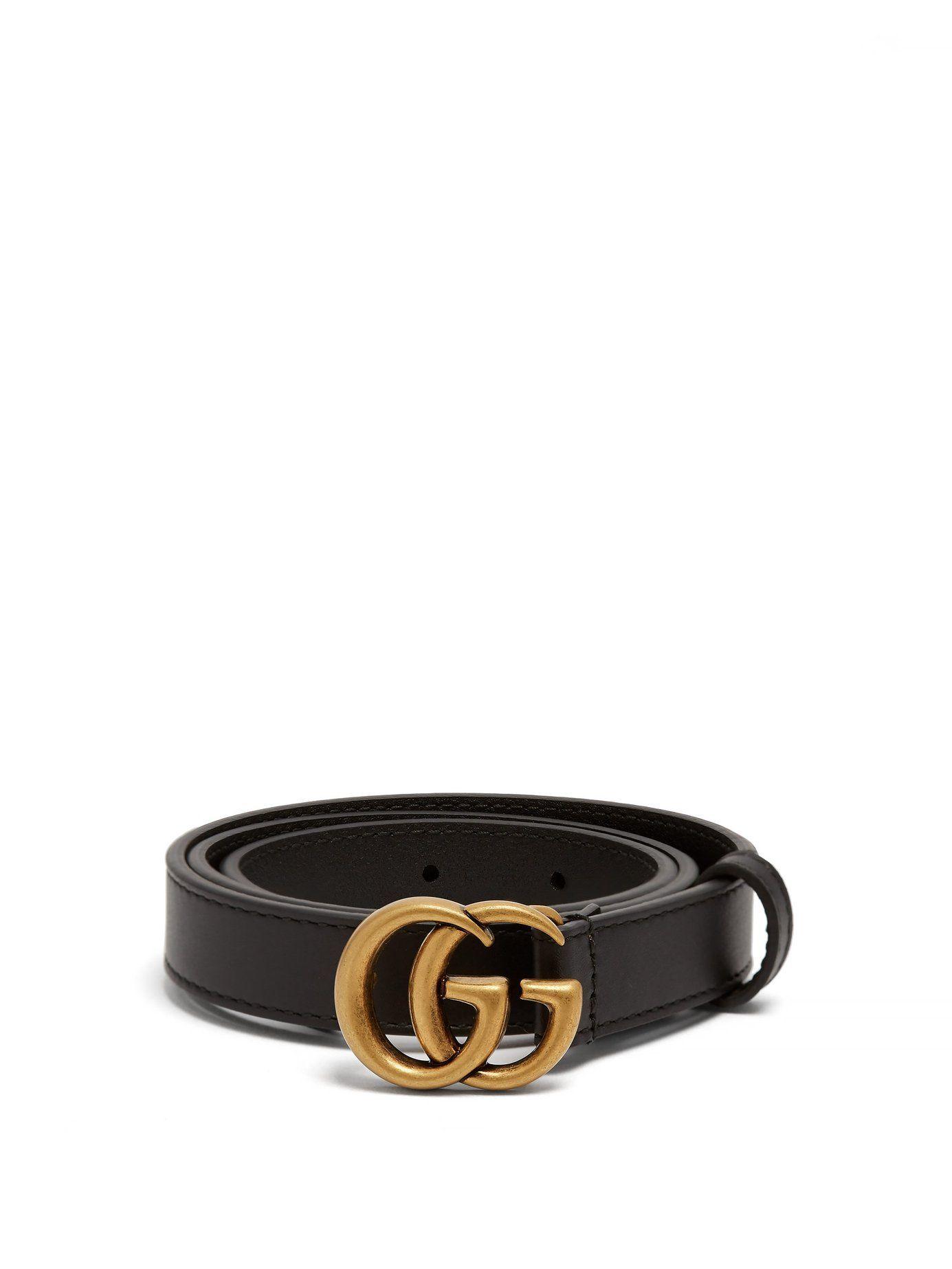 3f608823 GG logo grained-leather belt | Gucci | MATCHESFASHION.COM | Jewelry ...