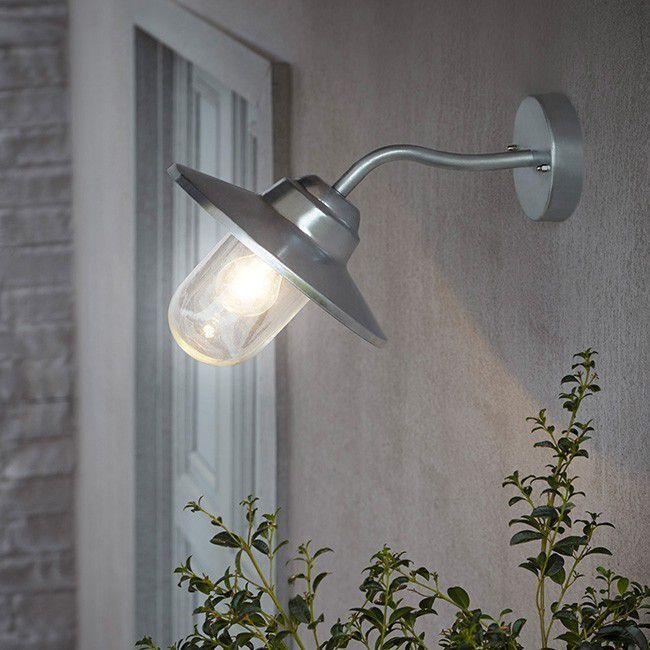Kinkiet Ogrodowy Blooma Rimouski 1 X 60 W E27 Srebrny Oprawy Zewnetrzne Oswietlenie Zewnetrzne Oswietlenie Urz Wall Lights Wall Lights Diy Diy Lighting