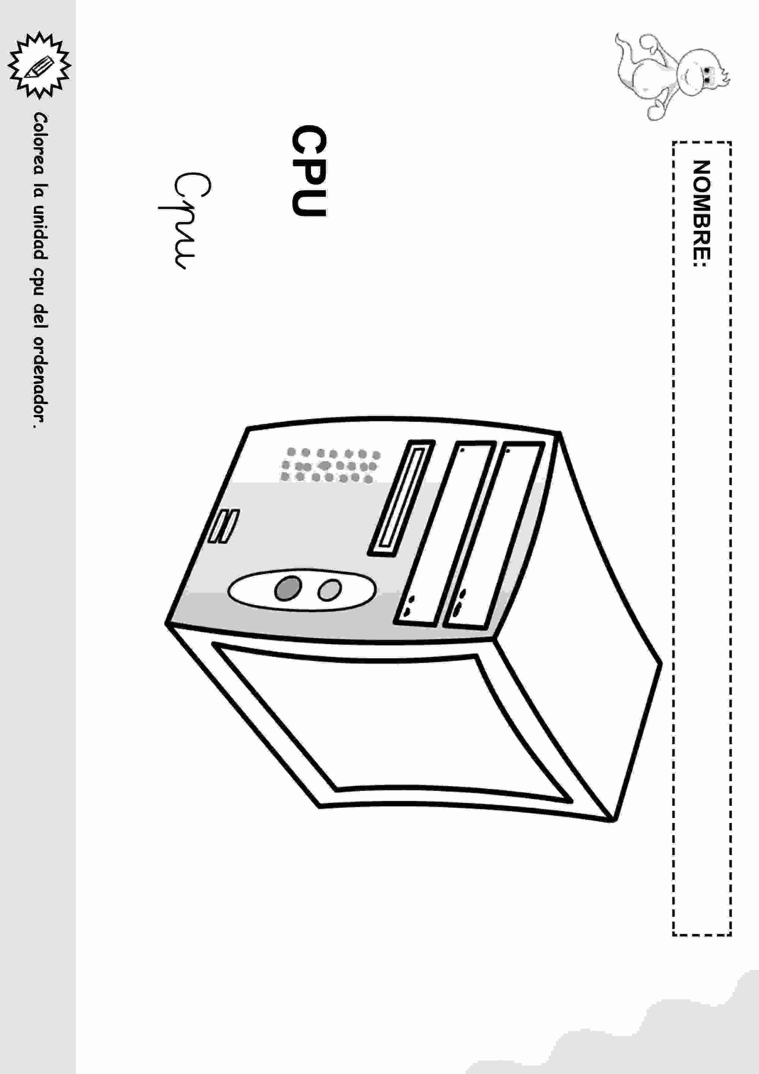Actividades Para Ninos Preescolar Primaria E Inicial Objetos Con Nombre Para Colorear 6 Computadora Para Ninos Tecnologia Para Ninos Clases De Computacion
