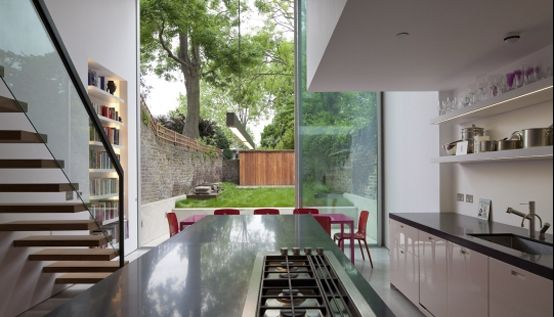 Modern Glass Cube Extension of Victorian Terraced House | DigsDigs ...