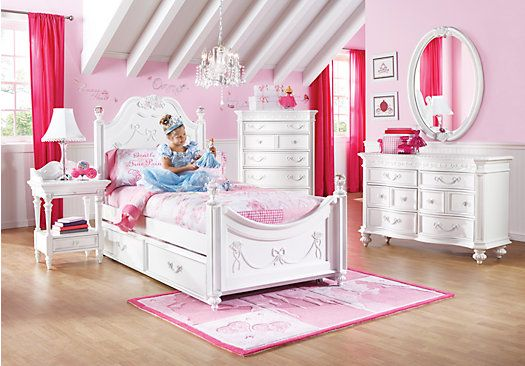Shop For A Disney Princess White 5 Pc Twin Poster Bedroom At Rooms