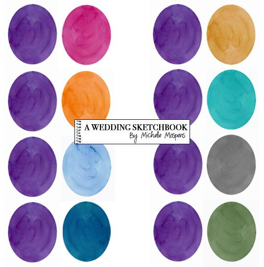 Unique Color Combinations purple and silver wedding ideas | best purple wedding color combos