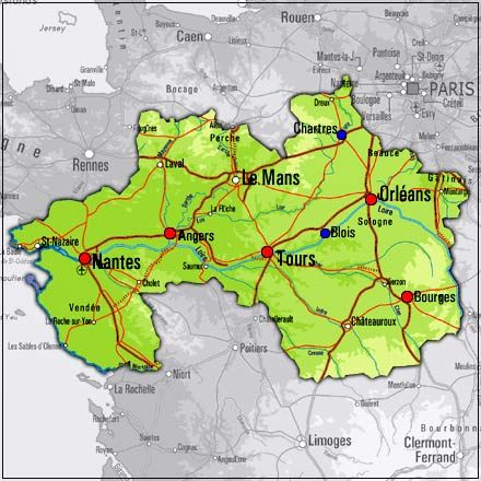 loire valley france map FRANCE Pinterest Loire valley france