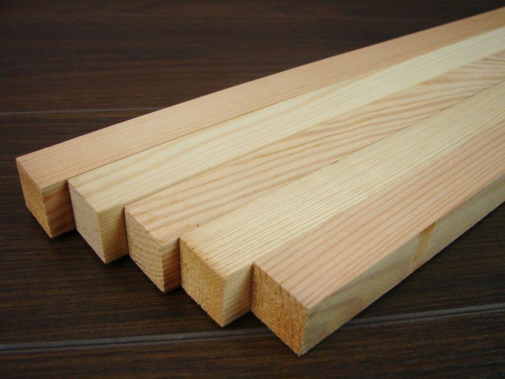5 Quadratstabe Kiefer 22x22x900mm Holzleisten Holzklammern Ebay