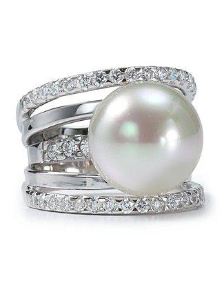 bague perle majorica