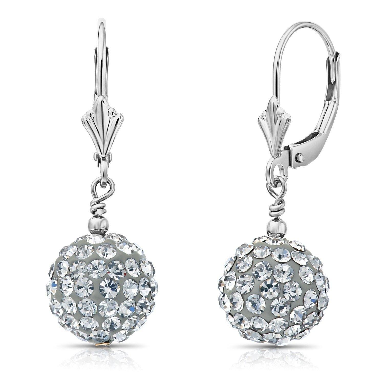 Infinite Gold™ 14K White Gold Bead Drop Earrings