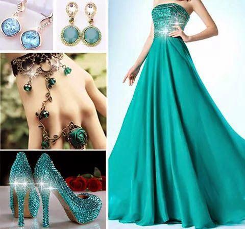 Green Long gown dress