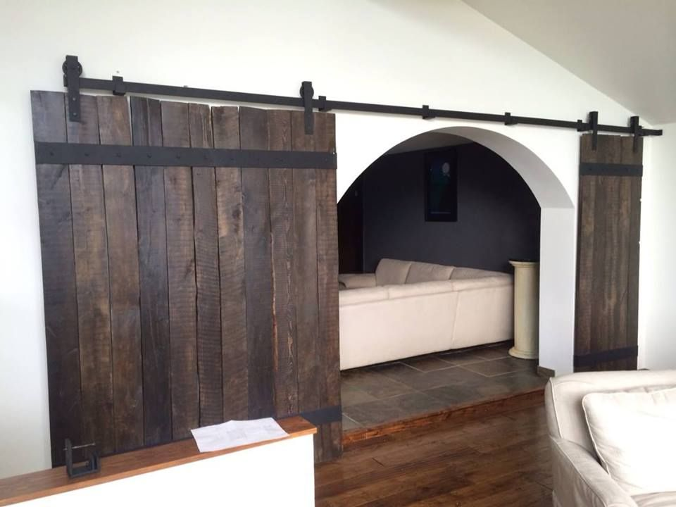 Wine Barrel Inspired Custom Sliding Barn Doors By Goatgear Handmade
