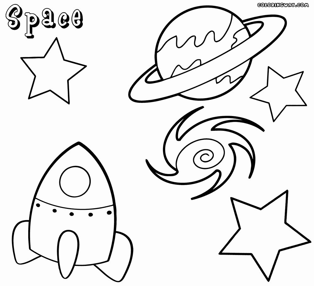32 Space Ship Coloring Page in 2020 Space coloring pages