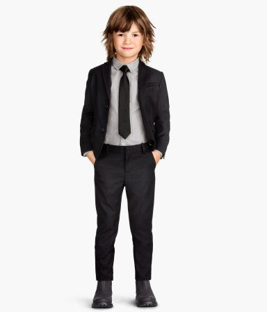 ee50b471f black suit | H&M Boys Black Suit, Little Boys Suits, Kids Suits, Boys