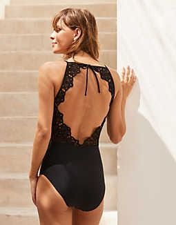 fbaf68db5e49b Aerie Ribbed Strappy Back One Piece Swimsuit