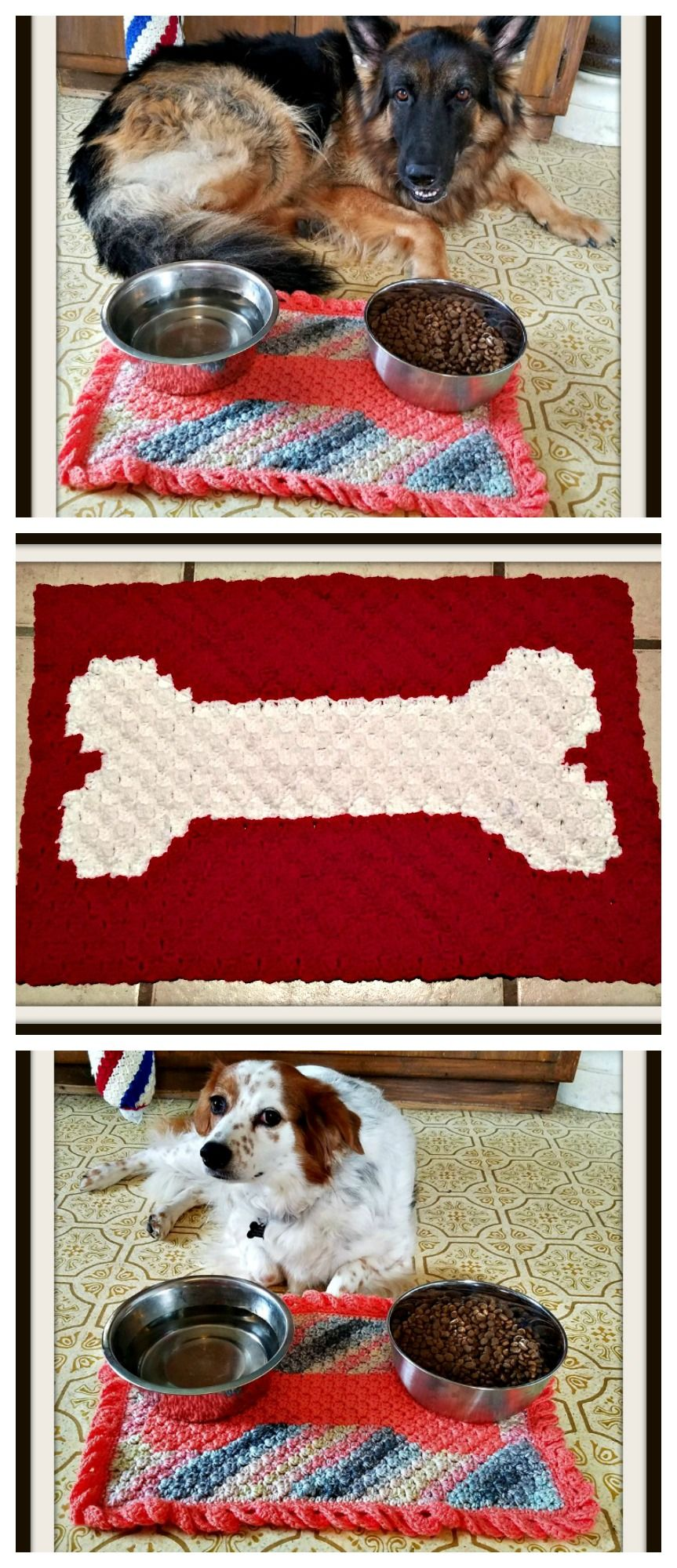 Dog Dish Mat C2c Crochet Pattern C2c Crochet Dog Pattern Crochet Patterns