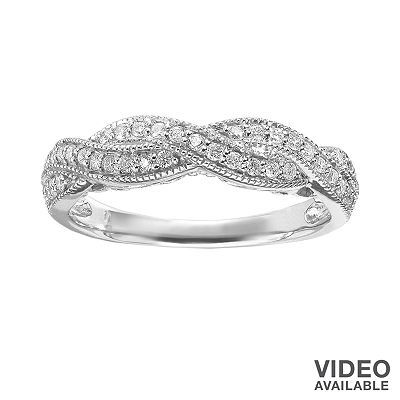 Simply Vera Vera Wang Diamond Twist Engagement Ring in 14k White Gold (1/3 ct. T.W.)  One day I will have this for a special wedding anniversary !