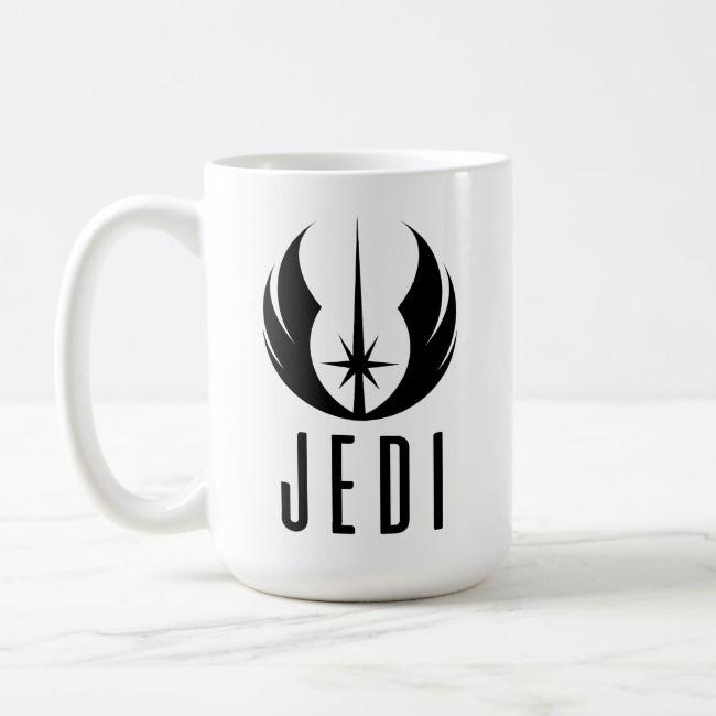 Black Jedi Symbol Coffee Mug Zazzle Com Jedi Symbol Mugs Star Wars Mugs