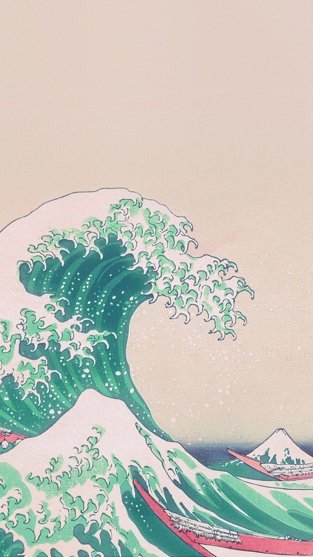Japanese Art Wallpapers Iphone Wallpaper Waves Wallpaper Aesthetic Iphone Wallpaper Aesthetic Wallpapers