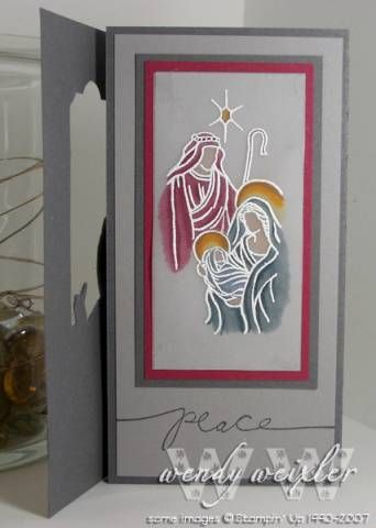 WMW Peaceful Triptych by Wendybell - Cards and Paper Crafts at Splitcoaststampers