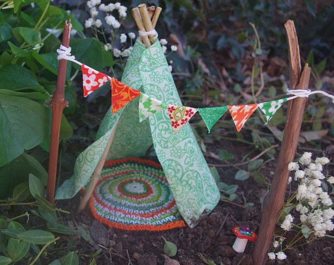 Accessories Miniature Dollhouse FAIRY GARDEN Teepee