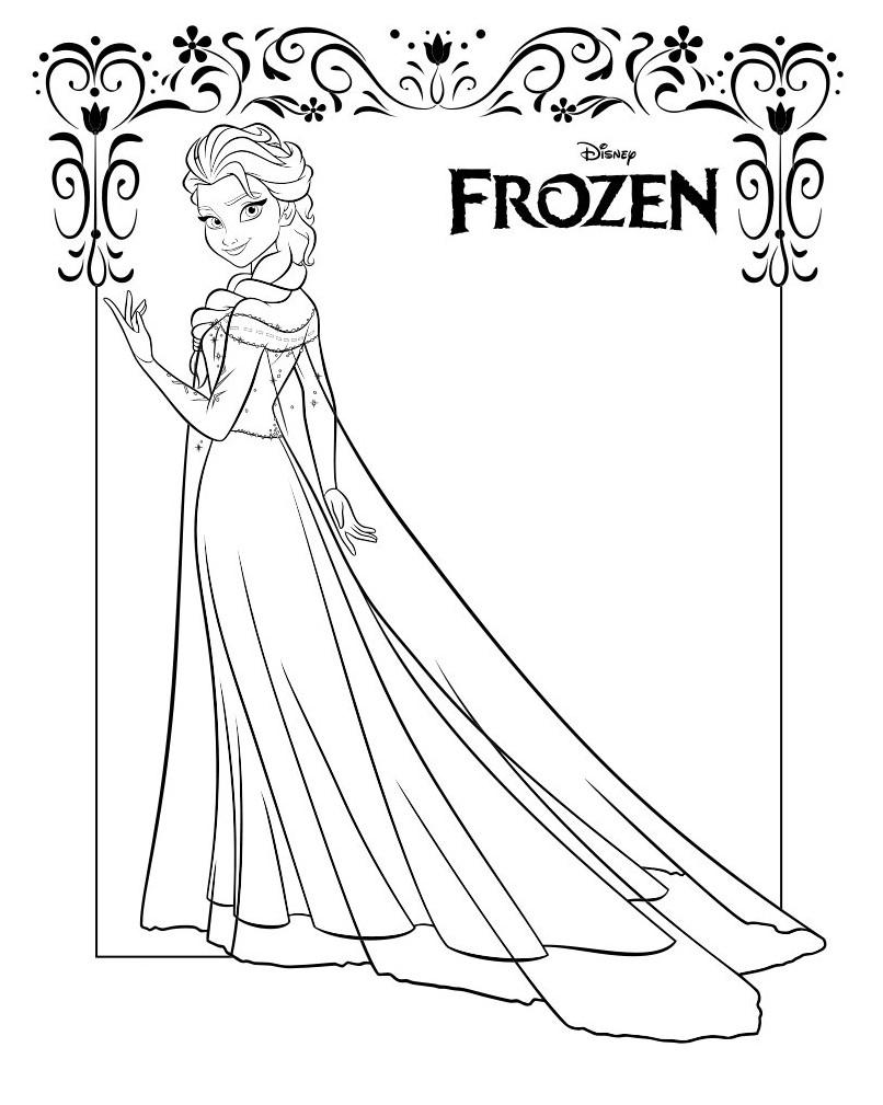 Gambar Mewarnai Frozen Elsa