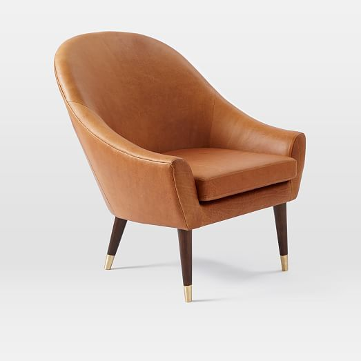 Beckett Leather Club Chair   Tan | West Elm