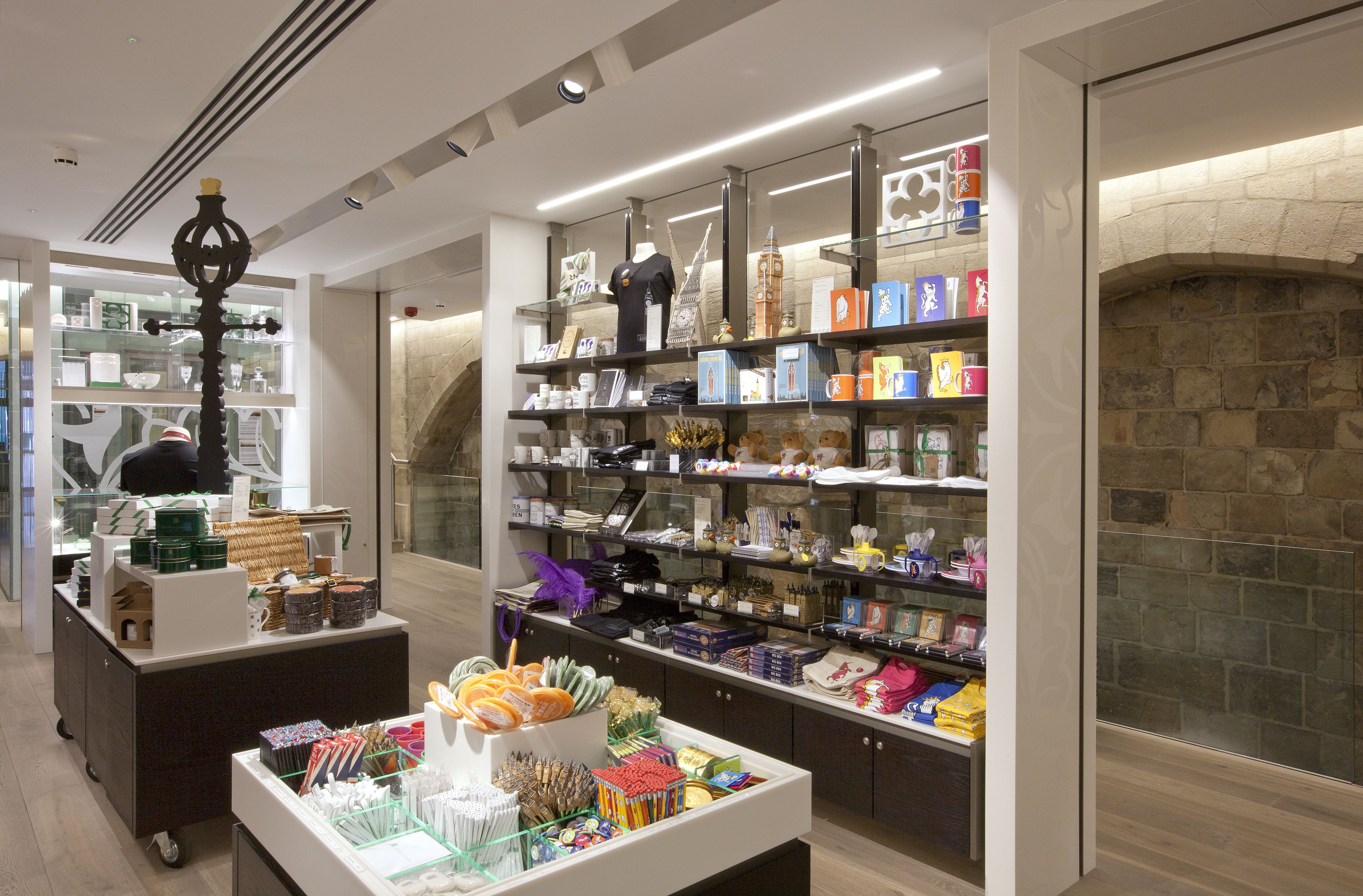 Houses of parliament jubilee gift shop designed by