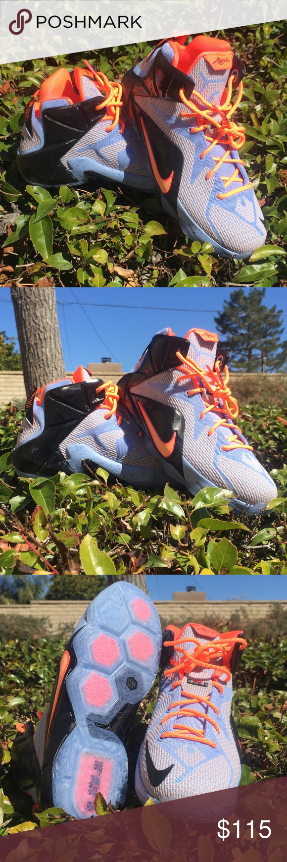 6d357680372 Nike Lebron James Brand new. Nike LeBron James 12. Youth size 5.5   7  available. Aluminum sunset and glow black colorway. Awesome basketball or  everyday ...