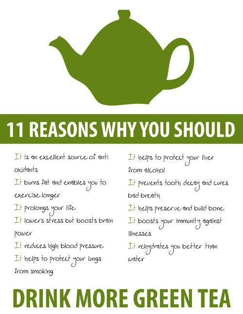 Definitely stating to drink green tea now