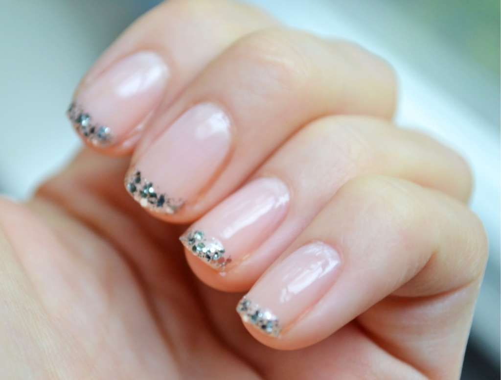Short French nails with glitter tips :: one1lady.com :: #nail #nails ...