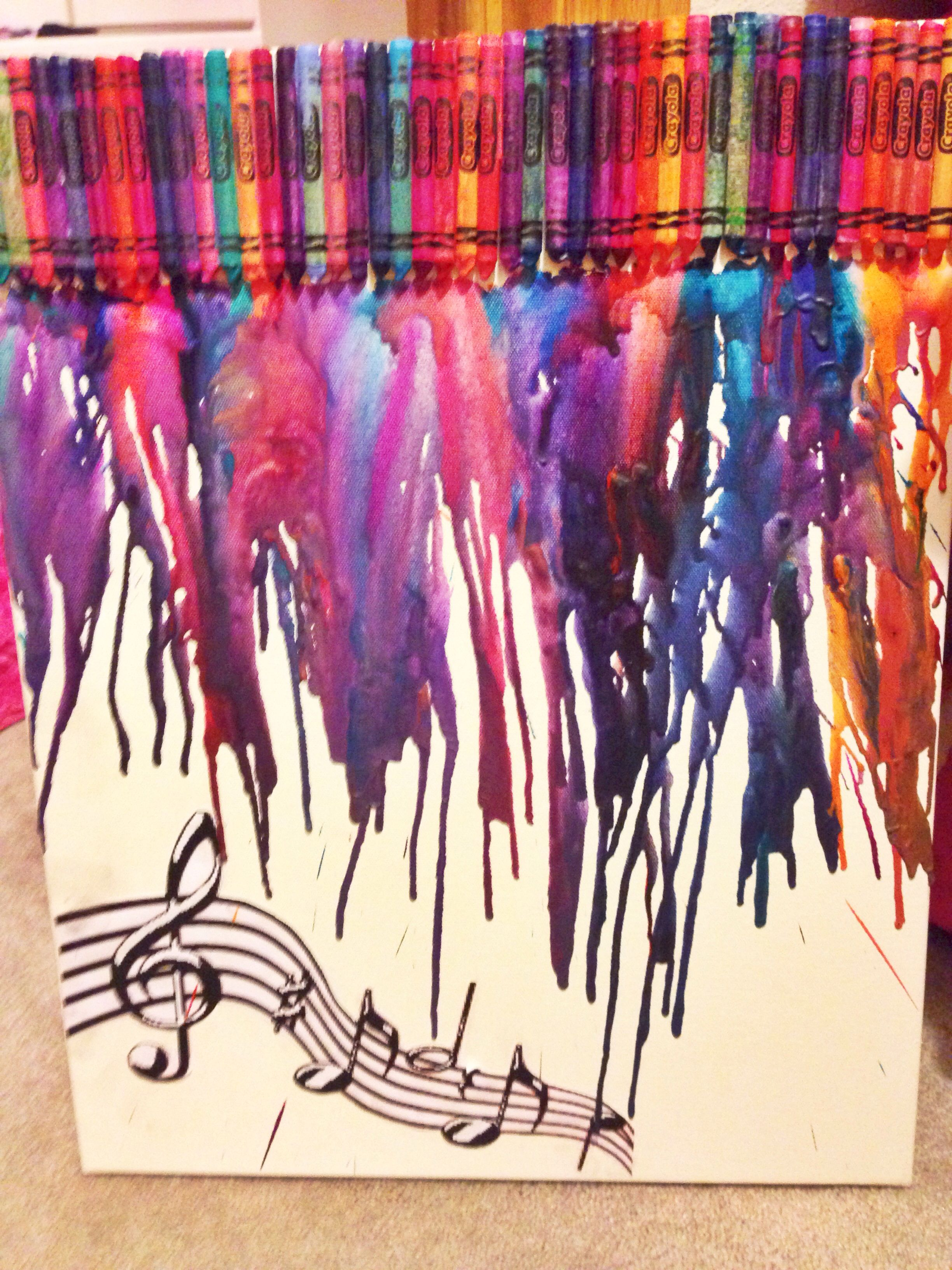 Not Just Another Crayon Art Musical Decal Added Darker