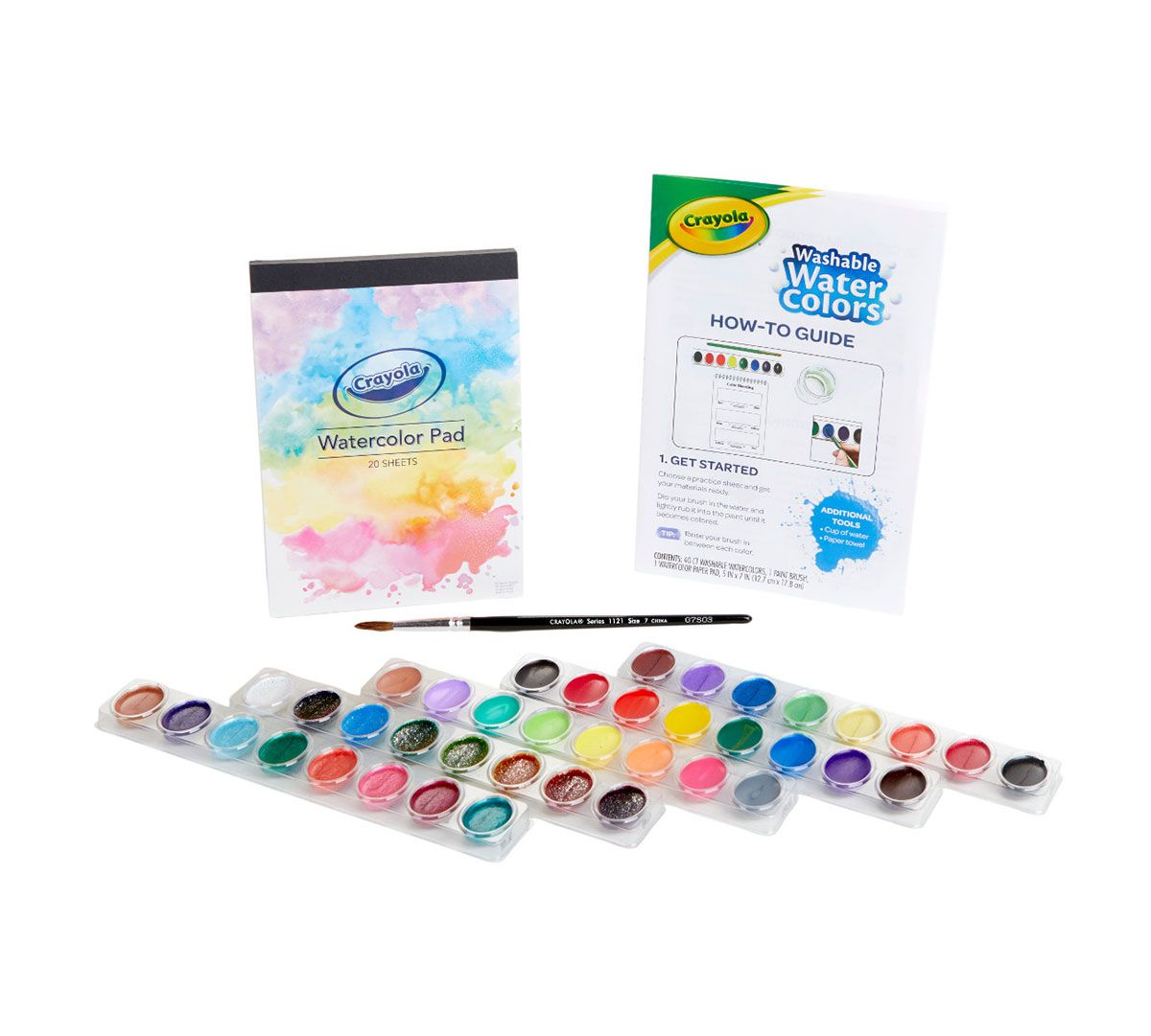 How To Watercolor Tutorial Kit Paint Supplies Crayola Com