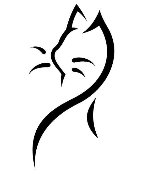 Gatti stilizzati immagini cerca con google disegno for Disegno gatto facile