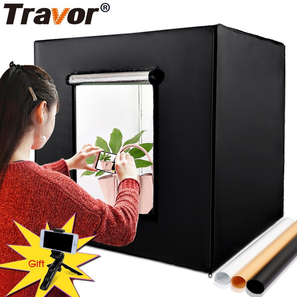 Portable Light Box 80 80cm Softbox Photo Studio Led Lightbox With 3 Colors Background For Tabletop Photograph Studio Photography Lighting Led Light Box Softbox