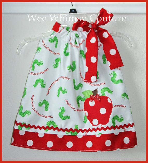 Hungry Hungry Caterpillar Dress  @Ashley Cocke, for Ofelia to wear to the shower!