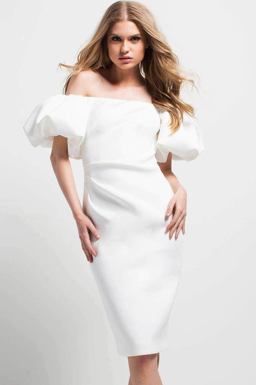1a2854ebb3e82c Jovani - 49793 Ruched Puffy Sleeve Off-Shoulder Dress #dress #womendress # dresses #womendresses #fashion #womenfashion #wedding #weddingdress # ...