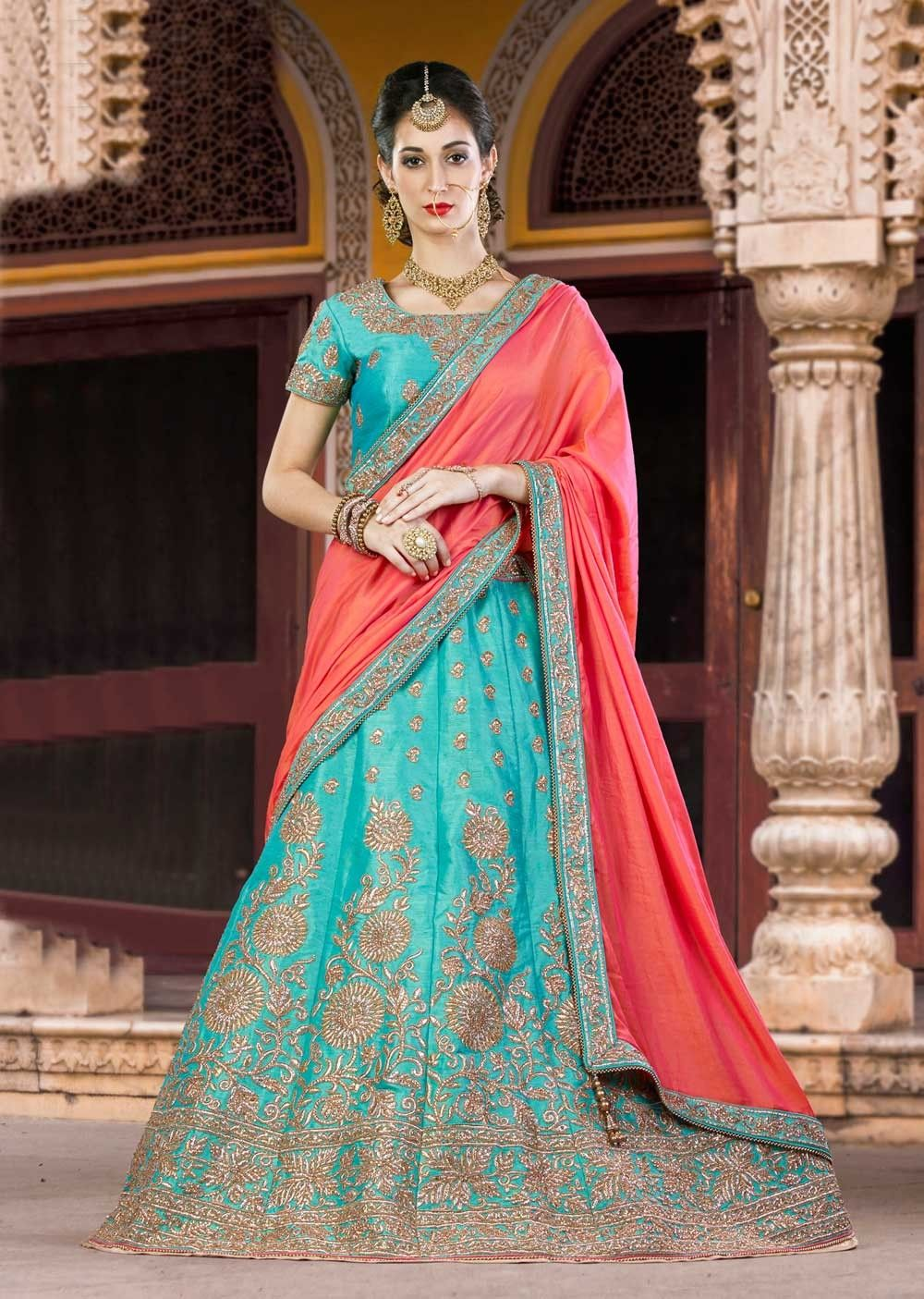 Latest Punjabi Wedding Lehenga Choli In Silk for Bridesmaids | New ...