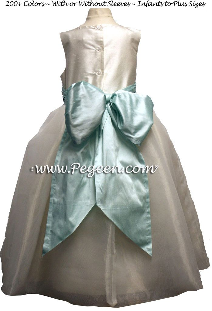9c950f5b2 Bay (Capris Blue) Silk Flower Girl Dresses For Your Wedding Party ...