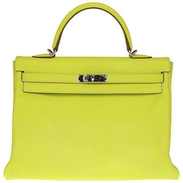 2010s Hermès Kelly 35 Cm Lime Yellow Leather Bag 217 989 935 Idr