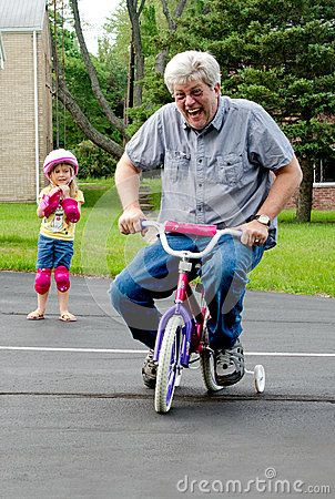 Learning To Ride A Bike With Training Wheels Bike With Training