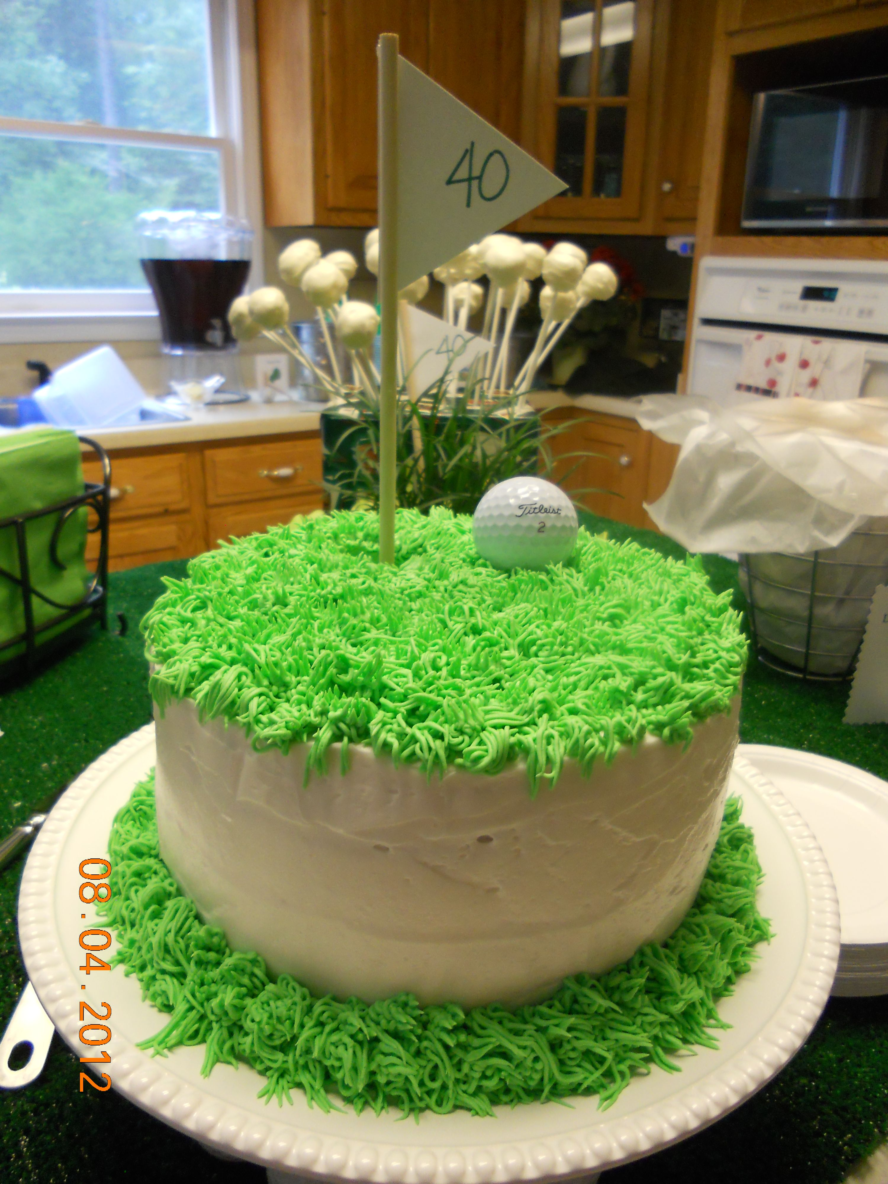 40th Birthday Golf Theme Cake