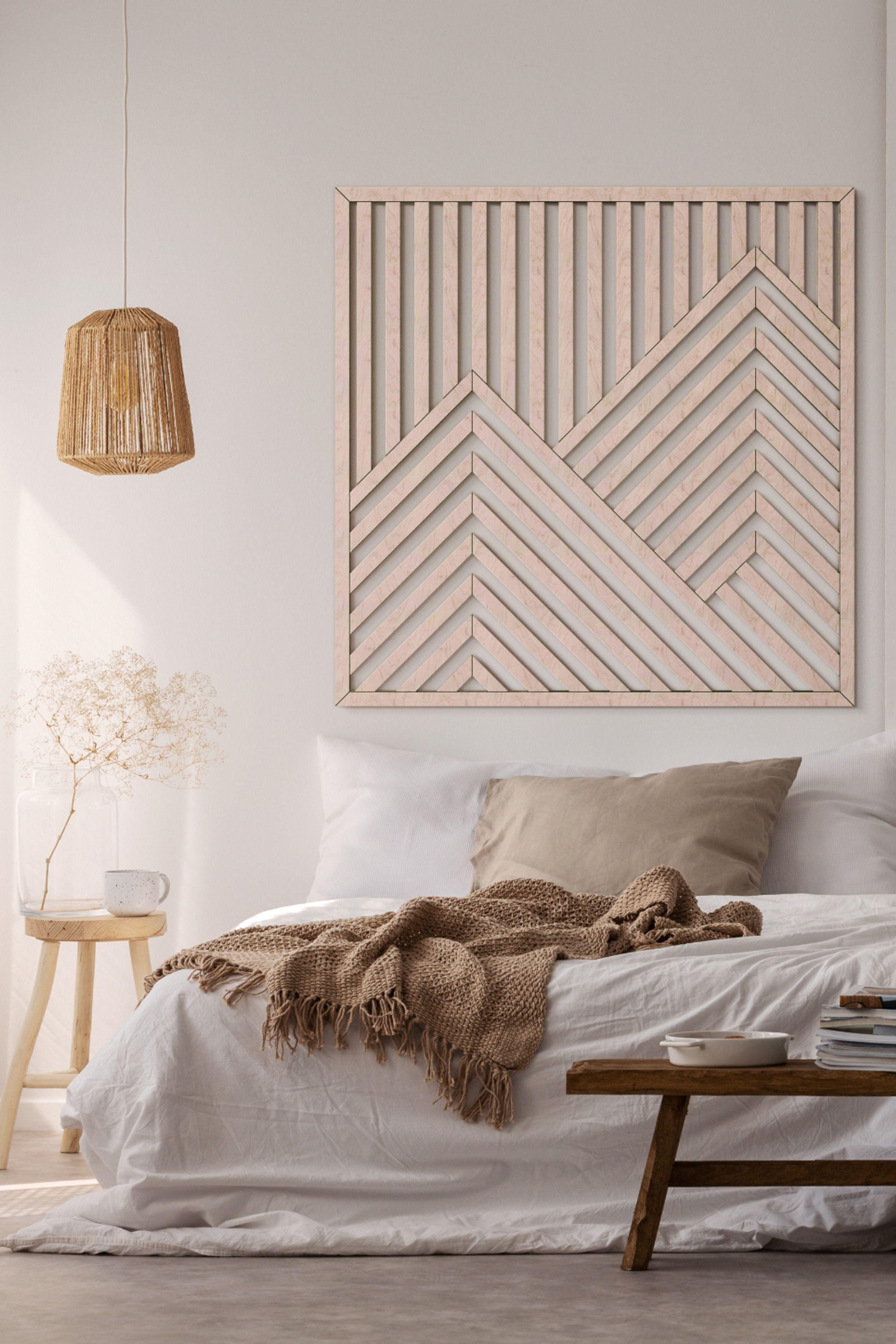 Mountain Wood Wall Art- Modern Wooden Wall Art- La