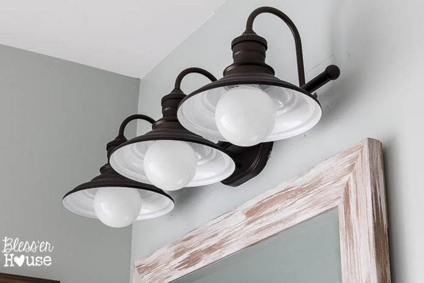 Farmhouse Bathroom Light Fixtures Extraordinary 36 Inexpensive Farmhouse Bathroom Light Fixtures Ideas