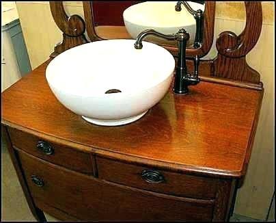 Dresser Sink Vintage Bathroom Vanity With Vessel Antique