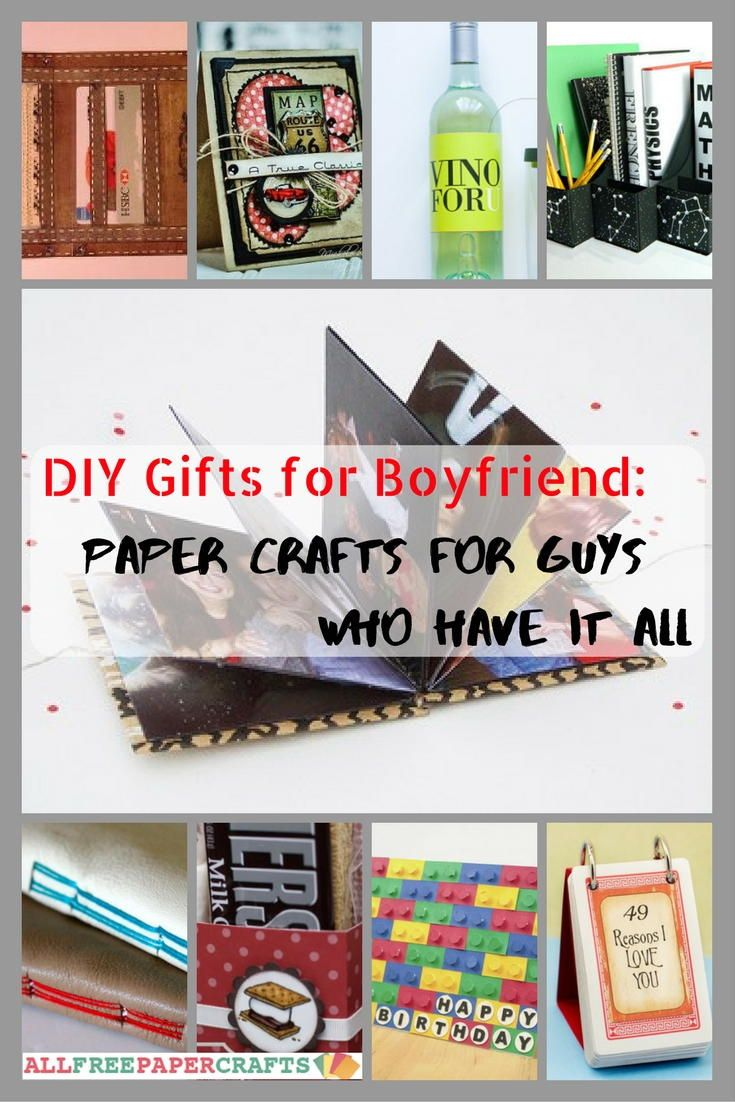 DIY Gifts For Boyfriend 24 Paper Crafts Guys Who Have It All