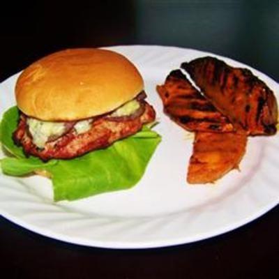 Mushroom Blue Cheese Turkey Burgers