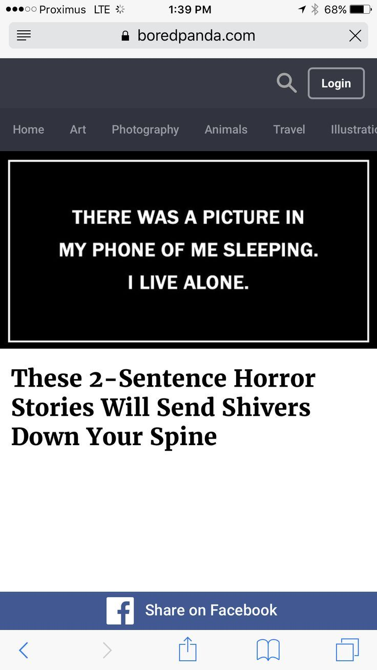 These 2-Sentence Horror Stories Will Send Shivers Down Your