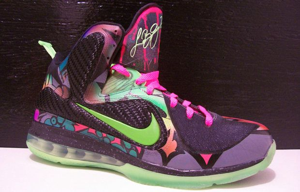 Nehmen Billig Deal Lebron 9 Alley Art Custom Schuhe Billig