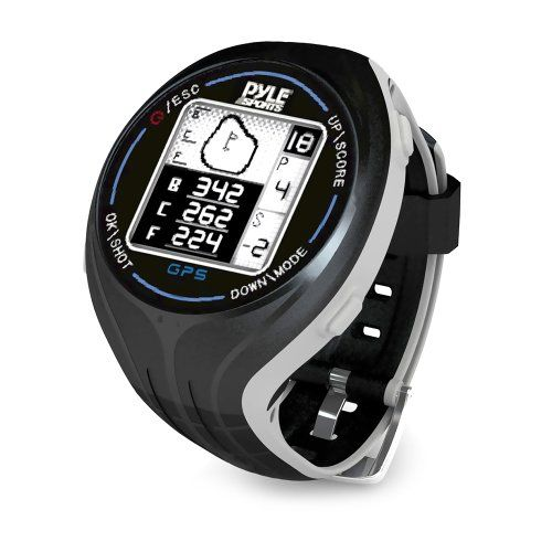 PYLE PSGF605BK GPS Smart Golf Watch with Course
