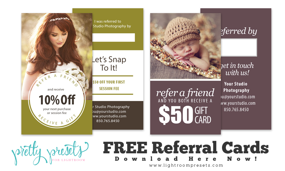 Free Referral Cards For Your Photography Business  Photography